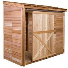 Customize your Cedarshed shed with a sliding door for easier access. This is a great upgrade for the Bayside shed from Dutch door to larger sliding door. #buildashedkit