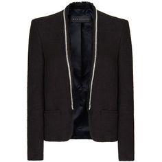 MANGO Bouclé Tuxedo Blazer ($130) ❤ liked on Polyvore