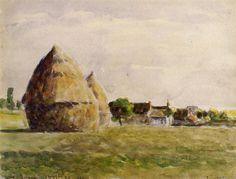 Twilight, Eragny, 1889 - Camille Pissarro - WikiArt.org
