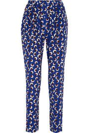 Stella McCartney Christine printed silk crepe de chine tapered pants