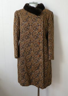50s Brocade Mink Opera Coat by dandylioness on Etsy, $95.00