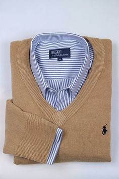 Men's #Fashion: Cotton V-Neck Sweater Ralph Lauren Our Slim-Fitting, Cotton V-Neck Sweater is the perfect preppy layering piece for the distinguished gentleman. •Ribbed V-neckline, cuffs and hem. •Our embroidered pony accents the chest. •100% cotton. Machine washable. Imported •Just The Sweater,...