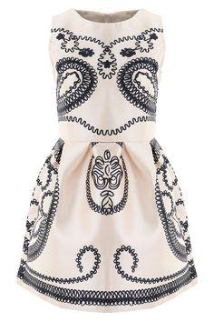 Vintage Ivory Paisley Mini Dress on Luulla