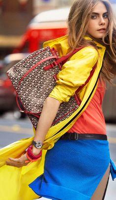 Farb- und Stilberatung www.insachenstil.de: Perfekte Farben für den Frühlingstyp! | Cara Delvigne, DKNY