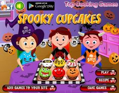 Cake Games, Tasty Recipe, Cooking Games, Halloween Party, Cake Recipes, Apron, Cupcakes, Yummy Food, Play