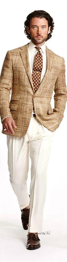 Ralph Lauren ● SS 2015 Men's Collection Sharp Dressed Man, Well Dressed Men, Mens Attire, Mens Suits, Suit Up, Ralph Lauren, Estilo Fashion, Grown Man, Gentleman Style