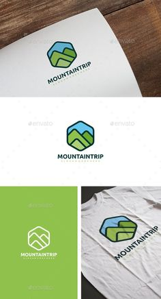 Mountain Landscape Logo  — EPS Template #hexagon #green • Download ➝ https://graphicriver.net/item/mountain-landscape-logo/18623784?ref=pxcr