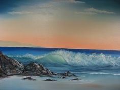 "John La Croix - oil painting of the Atlantic Beach 24"" X 30"" Pre-stretched canvas Realism. http://www.ebay.com/itm/201600292448?ssPageName=STRK:MESELX:IT&_trksid=p3984.m1555.l2649"