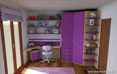 progettare angolo scrivania ragazza - Cerca con Google