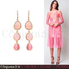 Los Alba son unos bonitos #pendientes en colores rosas que no pesan prácticamente nada. Ideales para poner el broche a un estilo romántico y elegante esta primavera. Quedan fenomenal con el precioso vestido Essaouira de #DavidChristian ★ Precio: 11,95 € en http://www.conjuntados.com/es/pendientes/pendientes-largos/pendientes-alba-en-tonos-rosas.html ★ #novedades #earrings #conjuntados #conjuntada #joyitas #jewelry #bisutería #bijoux #accesorios #complementos #moda #fashion #fashionadicct