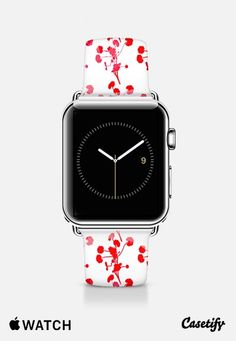 Red flowers apple band Apple Watch Band (42mm) by Yasmina Baggili | Casetify