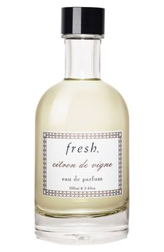 Free shipping and returns on Fresh® 'Citron de Vigne' Eau de Parfum at Nordstrom.com. Citron de Vigne Eau de Parfum is a sparkling citrus scent inspired by France's Champagne region housed in an artisanal glass bottle.Notes:- Top notes: neroli, bitter orange, pink grapefruit.- Middle notes: fresh®'s pinot noir accord, jasmine tea leaves, lemongrass.- Bottom notes: patchouli, sandalwood, amber.