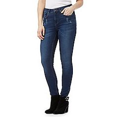 Nine by Savannah Miller - Blue skinny subtle rip jeans
