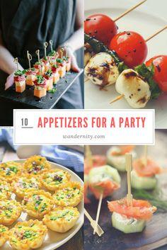 10 Best Ideas for Party Appetizers and Finger Food