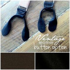 Suspender Leather Button Option by DanaEckert on Etsy, $15.00