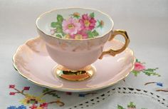 Rosina bone china tea cup and saucer by VieuxCharmes on Etsy                                                                                                                                                                                 More