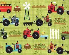 Moda - Oink a doodle moo - Tractors - Green