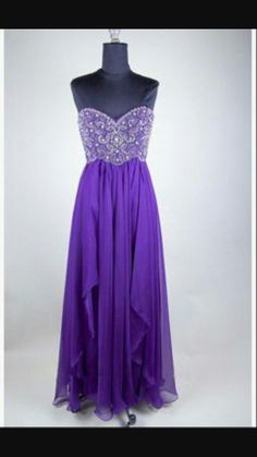 Purple long sparkly dress