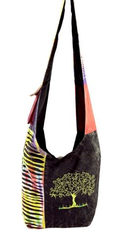 Tree of Life Embroidered Hobo Bag from TheAnimalRescueSite