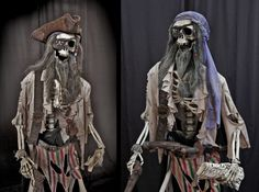 Pirates are going to be in again this Halloween Pirate Halloween Party, Creepy Halloween Props, Halloween Skeletons, Outdoor Halloween, Halloween Projects, Halloween Party Decor, Halloween House, Scary Halloween, Halloween Themes