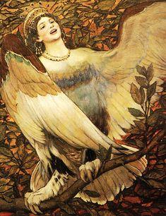 Sirin and Alkonost—The Birds of Joy and Sorrow (1896), Viktor Vasnetsov