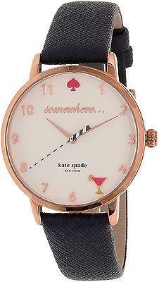 Kate Spade Women's Metro KSW1040 Rose Gold Leather Quartz Watch