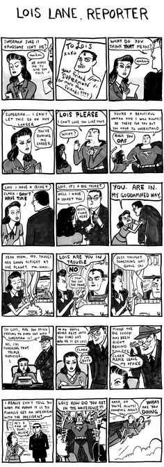 Lois Lane, reporter from Hark! a vagrant by Kate Beaton (I love her comic strips!) #comics #humor