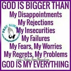 Comment below if God is your everything too. Amen. - facebook.com/rlwonderland