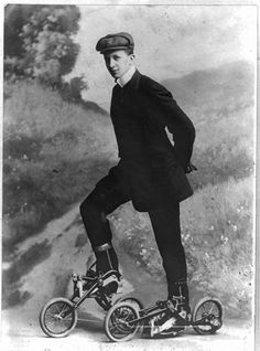 killerhair:  Pedal Skates - Charles A. Nordling - 1913 Designed to not require excessive exertion on the part of the wearer.. I would still love to give these babies a test drive..