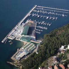 Marina em Vigo.