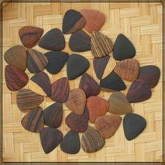 Wood guitar pics. Beautiful. Functional? Anyone??