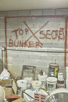 Instructions for building a secret underground bunker