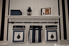 quarto de bebê tema náutico azul e branco