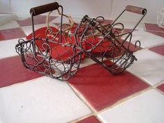 Duo de mini paniers en fil de fer