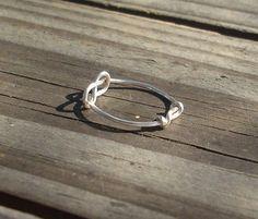Silber Knoten-Ring von RingBinder auf Etsy