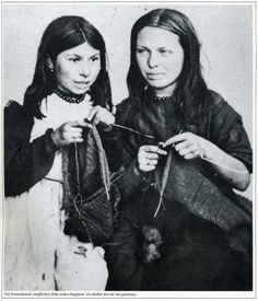 Guernsey knitting girls from south of England