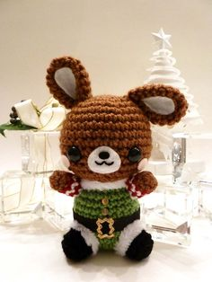 Christmas Elf Rabbit Amigurumi