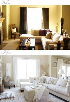 Thrifty and Chic - DIY Projects and Home Decor Some great before and after pics! Great inspiration!