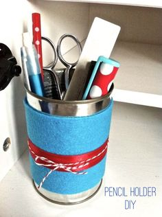 Office Supplies: Cute And Easy Pencil Holder DIY