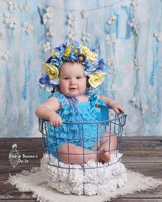 6 Month Flower Bonnet Floral Bonnet Floral Hat Sitter