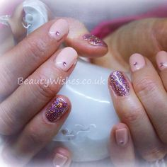 """Gelish """"Forever Beauty"""" with rockstar nail art and gems"""