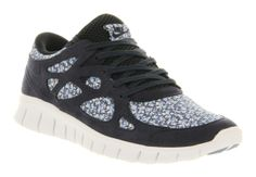 Womens Nike Free Run 2 Dark Obsidian White Liberty Floral Exc Trainers Shoes