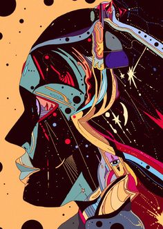 love Kilian Eng's illustration work! its like Milton Glaser meets Space Adventure Cobra