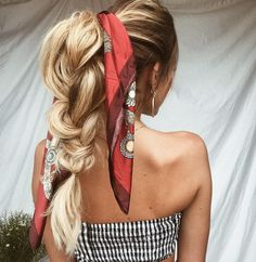 39 Trendy + Messy & Chic Braided Hairstyles | Loose big braided ponytail hairstyle #ponytail #braids #hairstyles