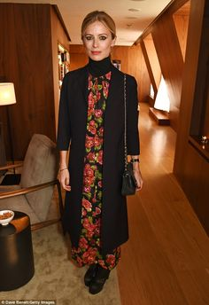 Ageless: Laura Bailey, 43, marked the arrival of summer in an ankle-length dress covered in red flowers