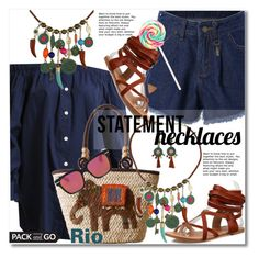 """Statement Necklaces"" by svijetlana ❤ liked on Polyvore featuring vintage, polyvoreeditorial, rio, statementnecklaces and twinkledeals"