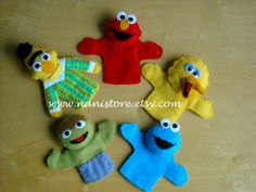 seasmes street finger puppets | Items similar to Finger Puppets Sesame Street on Etsy
