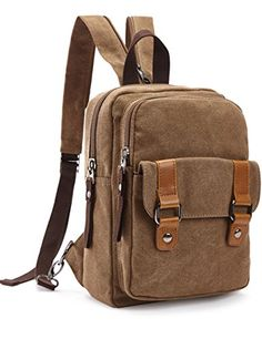 2017 Men Male Canvas Backpack College Student School Backpack Bags for  Teenagers Vintage Casual Travel Daypack Chest Pack cb774b970d749