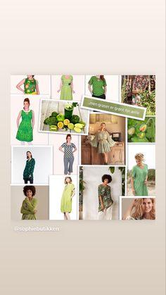 Det sies at grønt er fargen for harmoni, ro og balanse, og at de som kler seg i grønt er optimistiske og positive til vekst og utvikling. Det skal i hvert fall være det vi signaliserer til omverden når vi kler oss i grønt 😉 Ikke vet vi, men håpet er som kjent lysegrønt, og det finnes faktisk både varme og kalde grønnfarger. Dermed skulle det være en grønnfarge til oss alle 💚 I denne collagen ser du et lite utvalg av kjoler & topper vi har iniie i grønt akkurat nå, men som vanlig er der mer… Photo Wall, Decor, Decoration, Photography, Decorating, Dekorasyon, Dekoration, Home Accents, Deco