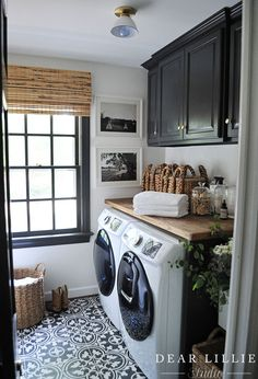 We added some finishing touches to the laundry room!